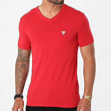 Guess - Tee Shirt Col V M1RI32-J1311 Rouge
