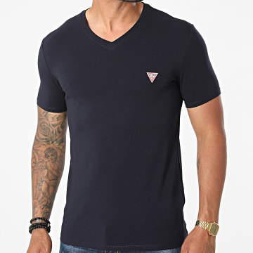 Guess - Tee Shirt Col V M1RI32-J1311 Bleu Marine