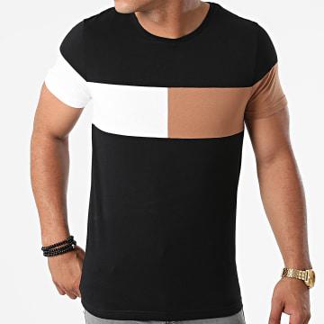 LBO - Tee Shirt Empiècement Bicolore 1816 Noir