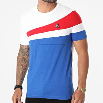 Le Coq Sportif - Tee Shirt Tricolore 2120313 Bleu Roi Blanc