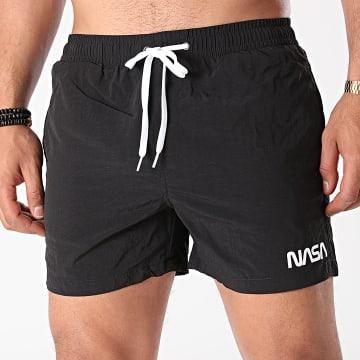 NASA - Short De Bain Worm Logo Noir