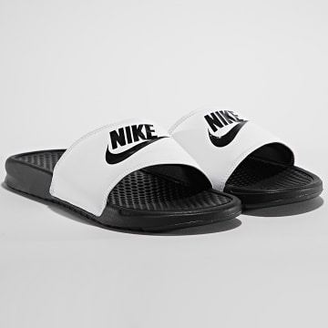 Nike - Claquettes Benasse JDI 343880 Noir Blanc