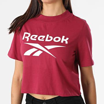 Reebok - Tee Shirt Crop Femme Reebok Identity GR9387 Bordeaux