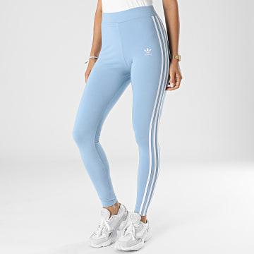 Adidas Originals - Legging Femme A Bandes 3 Stripes H09423 Bleu Clair