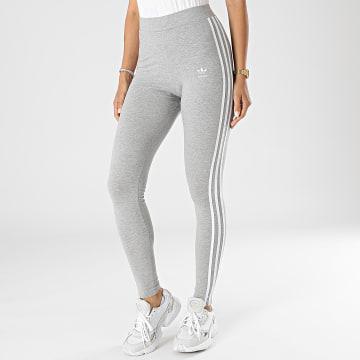 Adidas Originals - Legging Femme A Bandes 3 Stripes H09425 Gris Chiné