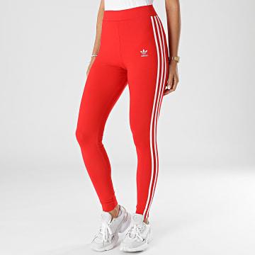 Adidas Originals - Legging Femme A Bandes 3 Stripes H09428 Rouge