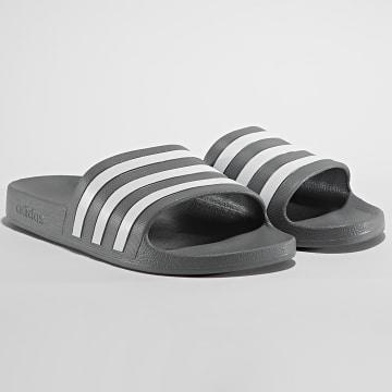 adidas - Claquettes Aqua F35538 Grey Three Cloud White