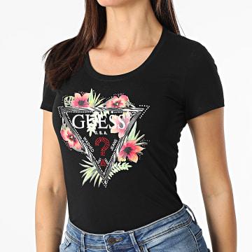 Guess - Tee Shirt Femme A Strass W1GI0N-J1311 Noir Floral