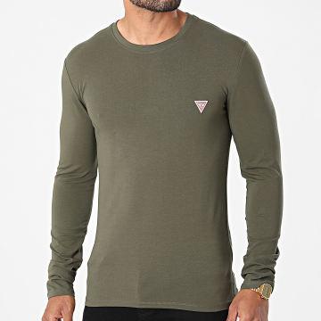 Guess - Tee Shirt Manches Longues M1RI28-J1311 Vert Kaki