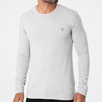 Guess - Tee Shirt Manches Longues M1RI28-J1311 Gris Chiné