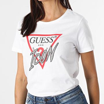 Guess - Tee Shirt Femme A Strass W1YI0Y-I3Z00 Blanc