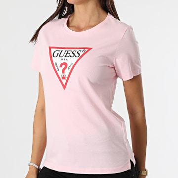 Guess - Tee Shirt Femme W1YI1B-I3Z11 Rose