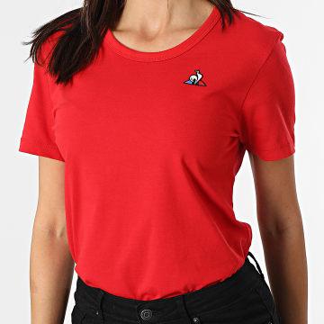 Le Coq Sportif - Tee Shirt Femme Essential 20110386 Rouge