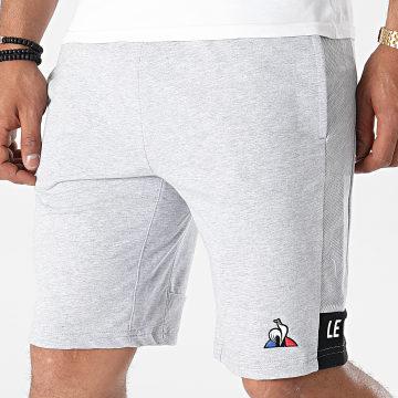 Le Coq Sportif - Short Jogging Essential N2 2110547 Gris Chiné