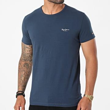 Pepe Jeans - Tee Shirt Original Basic Bleu Marine