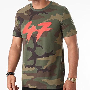 Samy Sana S47S - Tee Shirt 47 Camo Vert Kaki Rouge