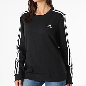 Adidas Performance - Sweat Crewneck Femme A Bandes 3 Stripes GS1344 Noir