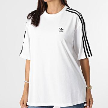 Adidas Originals - Tee Shirt Oversize Femme A Bandes H37796 Ecru