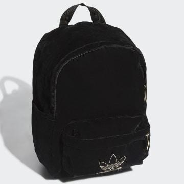 Adidas Originals - Sac A Dos Small BP Velvet H35562 Noir Doré