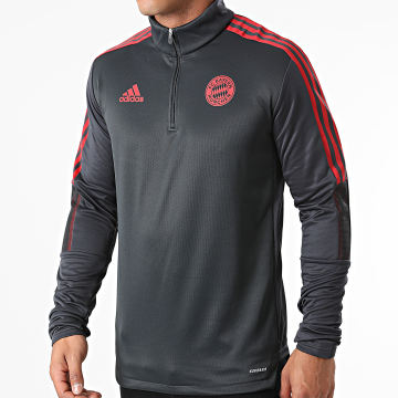 Adidas Performance - Tee Shirt Manches Longues A Bandes FC Bayern Munich GR0671 Gris Anthracite