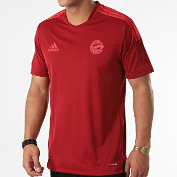 Adidas Performance - Tee Shirt De Sport A Bandes FC Bayern GR0657 Bordeaux