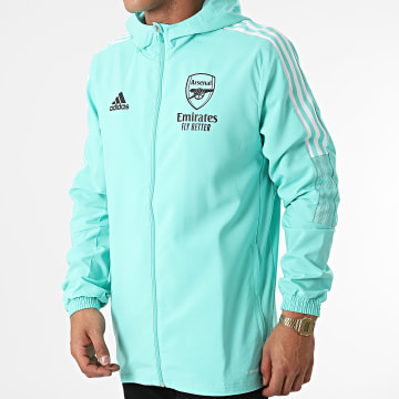 Adidas Performance - Veste Zippée Capuche A Bandes Arsenal FC GR4143 Vert Clair