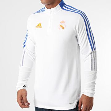 Adidas Performance - Tee Shirt Manches Longues A Bandes Real Madrid GR4328 Ecru