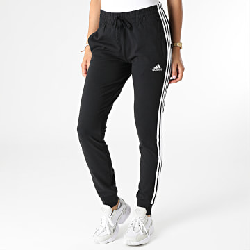 Adidas Performance - Pantalon Jogging Slim Femme 3 Stripes GM5542 Noir
