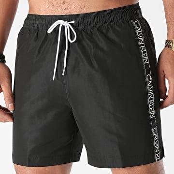 Calvin Klein - Short De Bain A Bandes Medium Drawstring 0558 Noir