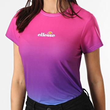 Ellesse - Tee Shirt Femme Mi Dégradé Rose Bleu