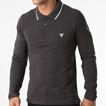 Guess - Polo Manches Longues M1YP36-J1311 Gris Anthracite