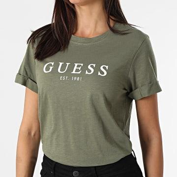 Guess - Tee Shirt Femme W0GI69-R8G01 Vert Kaki