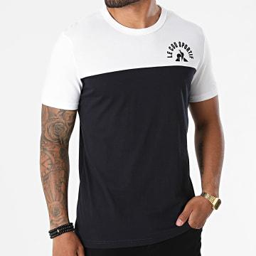 Le Coq Sportif - Tee Shirt Saison 2 N1 2120304 Blanc Bleu Marine