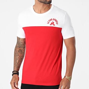 Le Coq Sportif - Tee Shirt Saison 2 N1 2120305 Rouge Blanc