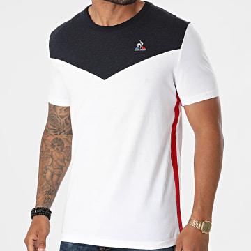 Le Coq Sportif - Tee Shirt Saison 1 N2 2120706 Blanc Bleu Marine Chiné