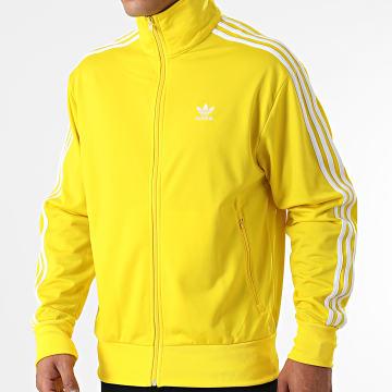 Adidas Originals - Veste Zippée A Bandes Firebird H06716 Jaune