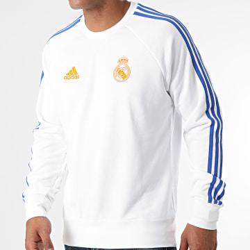 Adidas Performance - Sweat Crewneck A Bandes Real Madrid GR4341 Ecru