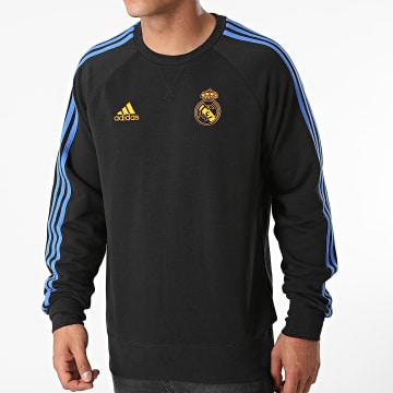Adidas Performance - Sweat Crewneck A Bandes Real Madrid GU9706 Noir