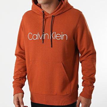 Calvin Klein - Sweat Capuche Cotton Logo 7033 Brique