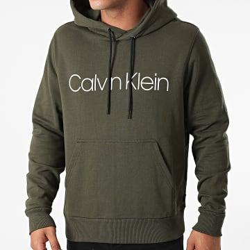 Calvin Klein - Sweat Capuche Cotton Logo 7033 Vert Kaki