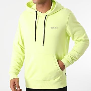 Calvin Klein - Sweat Capuche Small Chest Logo 7165 Vert Anis