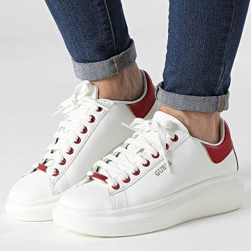 Guess - Baskets Femme FL7SALELE12 White Red