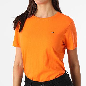 Tommy Jeans - Tee Shirt Femme Soft Jersey 6901 Orange