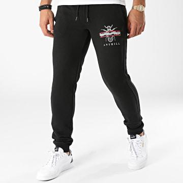 Anthill - Pantalon Jogging Leaf Logo Noir Blanc