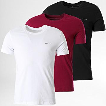 Calvin Klein - Lot De 3 Tee Shirts 7634 Blanc Noir Violet