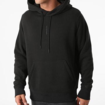 Calvin Klein - Sweat Capuche Institutional Seasonal Back 9075 Noir