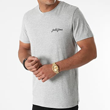 Jack And Jones - Tee Shirt Tristans Small Gris Chiné