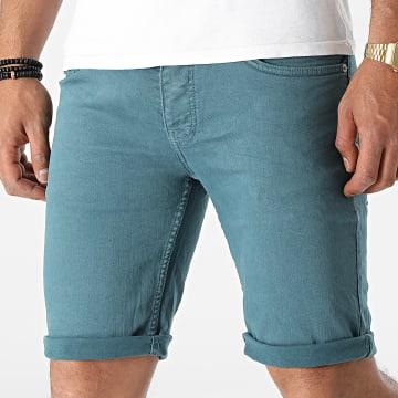 KZR - Short Jean NGN-8023 Bleu Canard