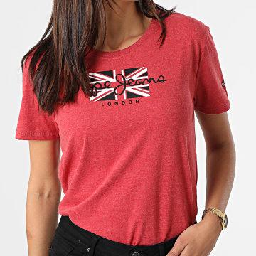 Pepe Jeans - Tee Shirt Femme Zaidas Rouge