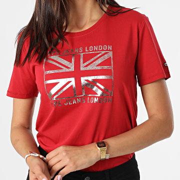 Pepe Jeans - Tee Shirt Femme Zeldas Rouge